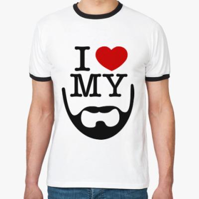 Футболка Ringer-T I love my beard