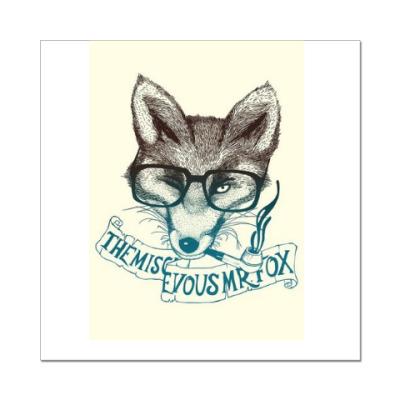 Наклейка (стикер) Fox (лиса)