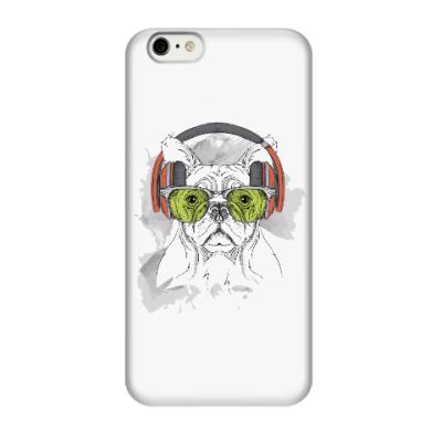 Чехол для iPhone 6/6s Собака в зеленых очках