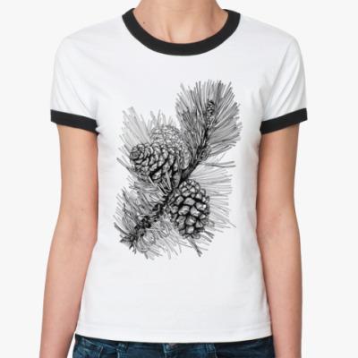 Женская футболка Ringer-T Шишки