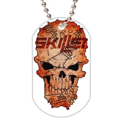 Жетон dog-tag Skillet Skull