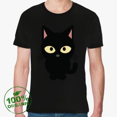 Футболка из органик-хлопка Черный Котик