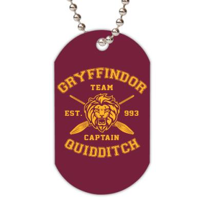 Жетон dog-tag Gryffindor Quidditch Team