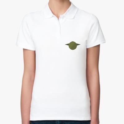 Женская рубашка поло Магистр Йода (Yoda) минимализм