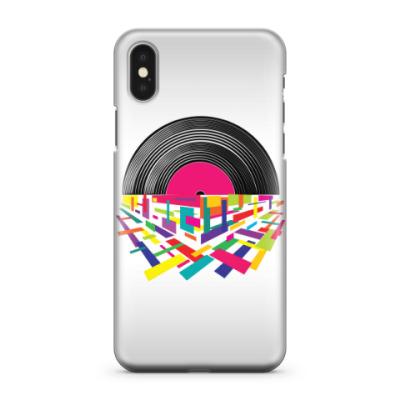 Чехол для iPhone X Музыка в стиле всегда