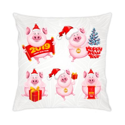 Подушка Год желтой свиньи 2019