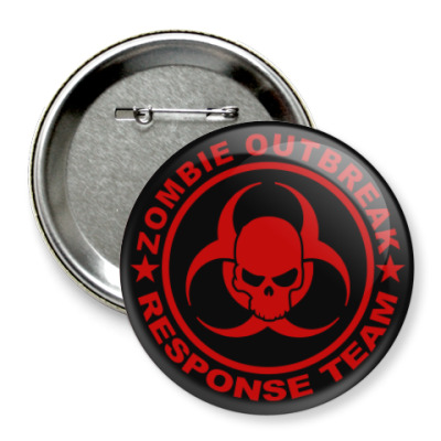Значок 75мм Zombie outbreak response team