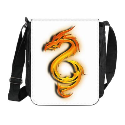 Сумка на плечо (мини-планшет) Огненный дракон