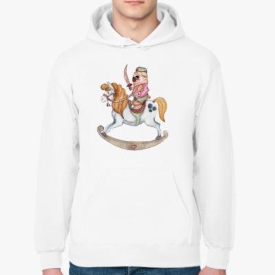 Толстовка худи мопс на коне