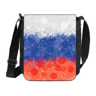 Сумка на плечо (мини-планшет) Флаг России