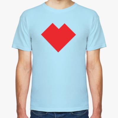 Футболка Сердце танграм