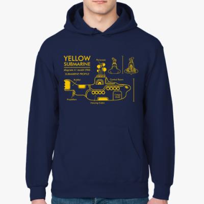 Толстовка худи Yellow Submarine