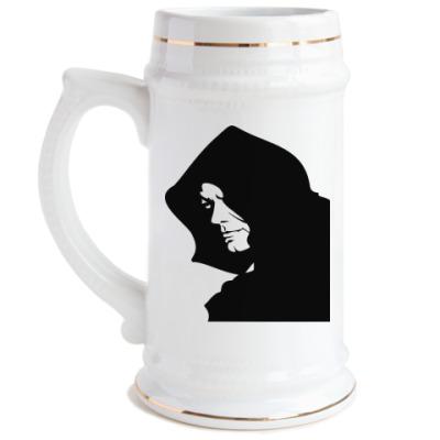 Пивная кружка Человек в капюшоне