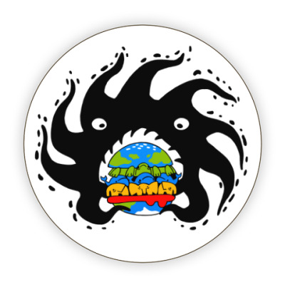 Костер (подставка под кружку) Black hole eating a globurger