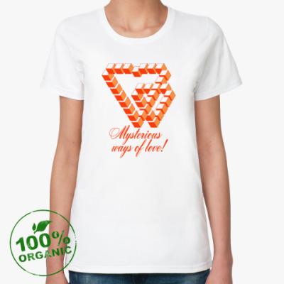 Женская футболка из органик-хлопка ПУТИ ЛЮБВИ НЕИСПОВЕДИМЫ