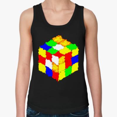 Женская майка Кубик Рубика