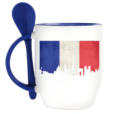 Кружка с ложкой Paris