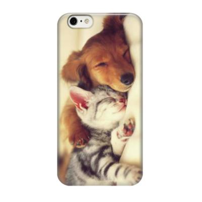 Чехол для iPhone 6/6s Котенок с собачкой
