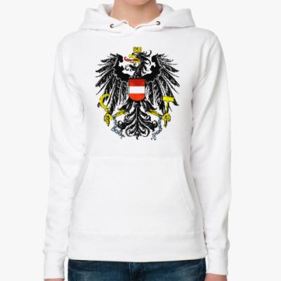 Женская толстовка худи Герб Австрии