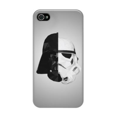 Чехол для iPhone 4/4s Star Wars: Вейдер и Штурмовик