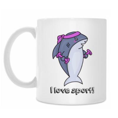 Кружка Акула спортсмен