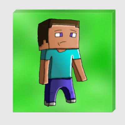 Холст Minecraft Steve