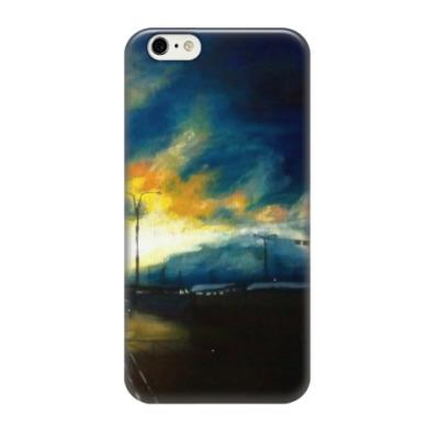 Чехол для iPhone 6/6s Закат над Лахтинским разливом