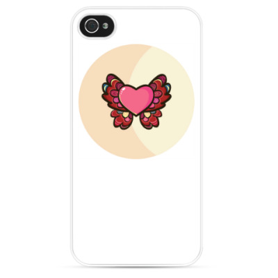 Чехол для iPhone Сердце-бабочка