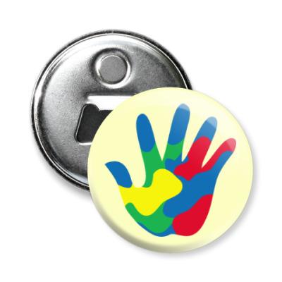 Магнит-открывашка Отпечаток Руки