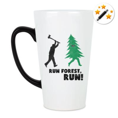 Кружка-хамелеон Run forest run! New Year