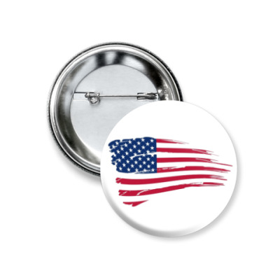 Значок 37мм Американский флаг