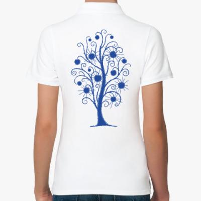 Женская рубашка поло Древо Солнца