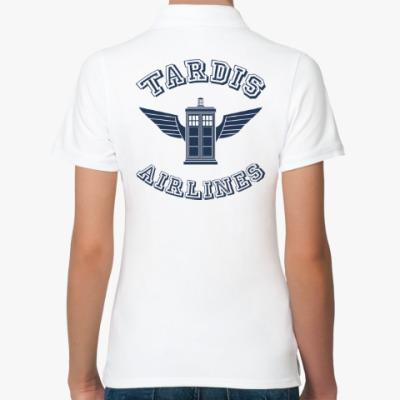 Женская рубашка поло Tardis Airlines