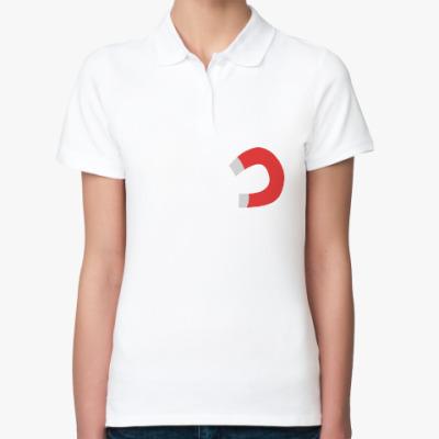 Женская рубашка поло Тянет, как магнитом