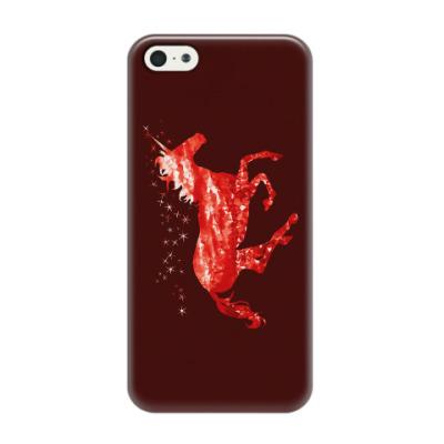 Чехол для iPhone 5/5s Рубиновый Единорог
