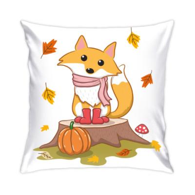 Подушка Лисенок и осень