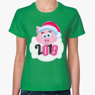 Женская футболка Год 2019 Свиньи