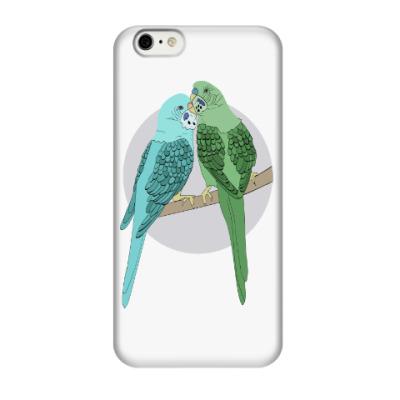 Чехол для iPhone 6/6s Волнистые попугайчики