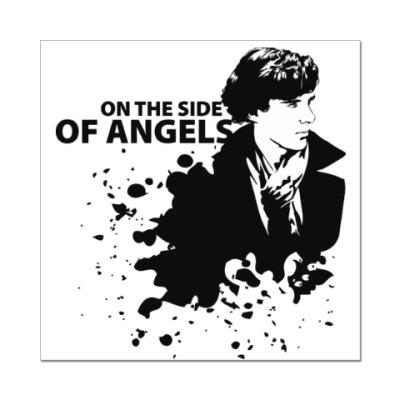 Наклейка (стикер) На стороне ангелов