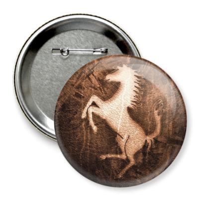 Значок 75мм Лошадь