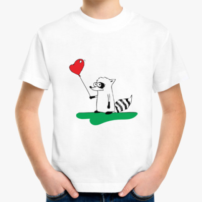Детская футболка Енот