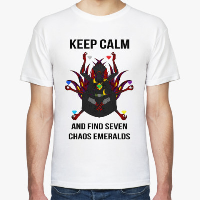 Футболка Keep calm and find seven chaos emeralds
