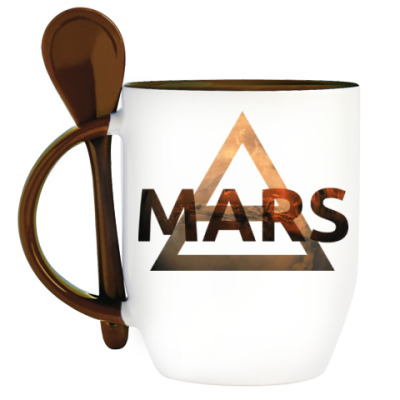 Кружка с ложкой Mars Triad