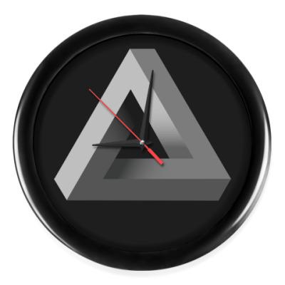Настенные часы Невозможный Треугольник 3D