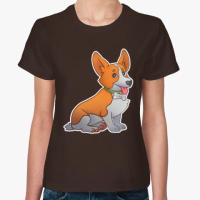 Женская футболка Корги