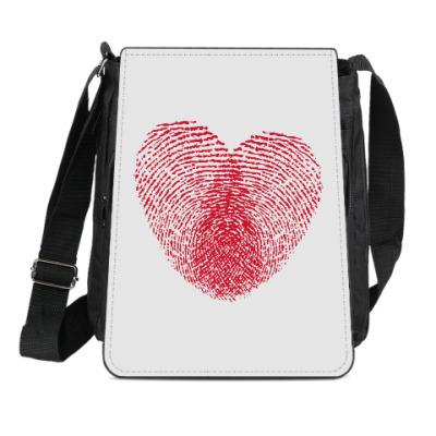 Сумка-планшет Отпечатки Любви