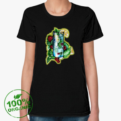 Женская футболка из органик-хлопка Частичка лета ЭКО