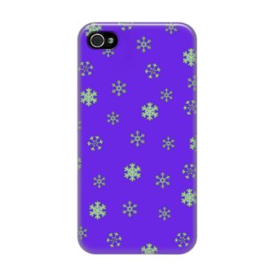 Чехол для iPhone 4/4s Снежок