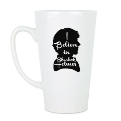 Чашка Латте I Believe In Sherlock Holmes