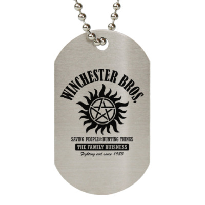 Жетон dog-tag Winchester Brothers
